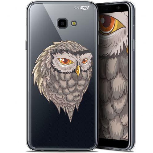 "Coque Gel Samsung Galaxy J4 Plus J4+ (6"") Extra Fine Motif -  Hibou Draw"