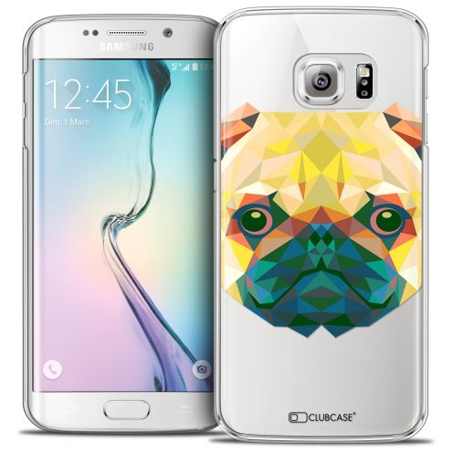 Coque Crystal Galaxy S6 Edge Extra Fine Polygon Animals - Chien