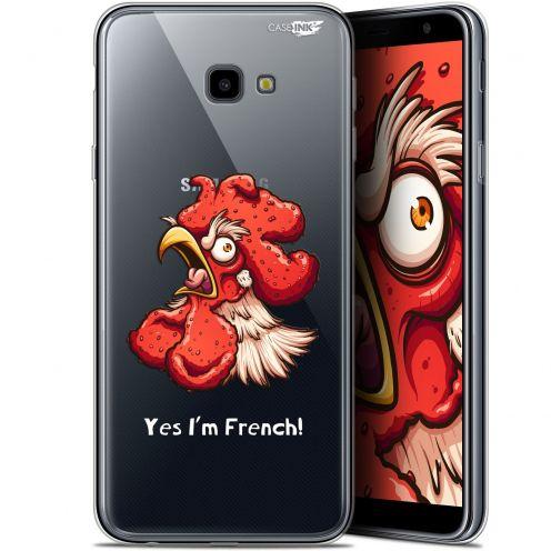 """Coque Gel Samsung Galaxy J4 Plus J4+ (6"""") Extra Fine Motif -  I'm French Coq"""