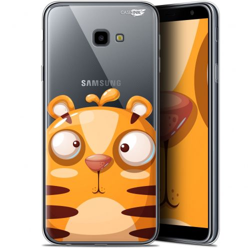 "Coque Gel Samsung Galaxy J4 Plus J4+ (6"") Extra Fine Motif -  Cartoon Tiger"