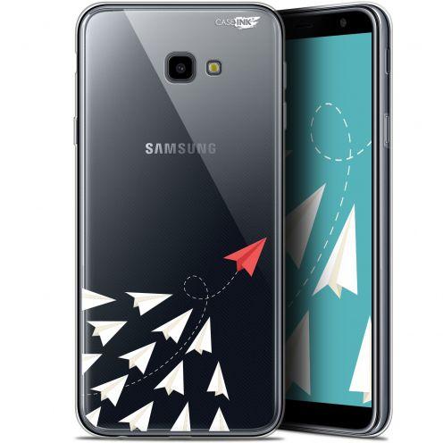 "Coque Gel Samsung Galaxy J4 Plus J4+ (6"") Extra Fine Motif -  Papier Volant"