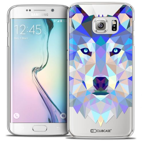 Coque Crystal Galaxy S6 Edge Extra Fine Polygon Animals - Loup