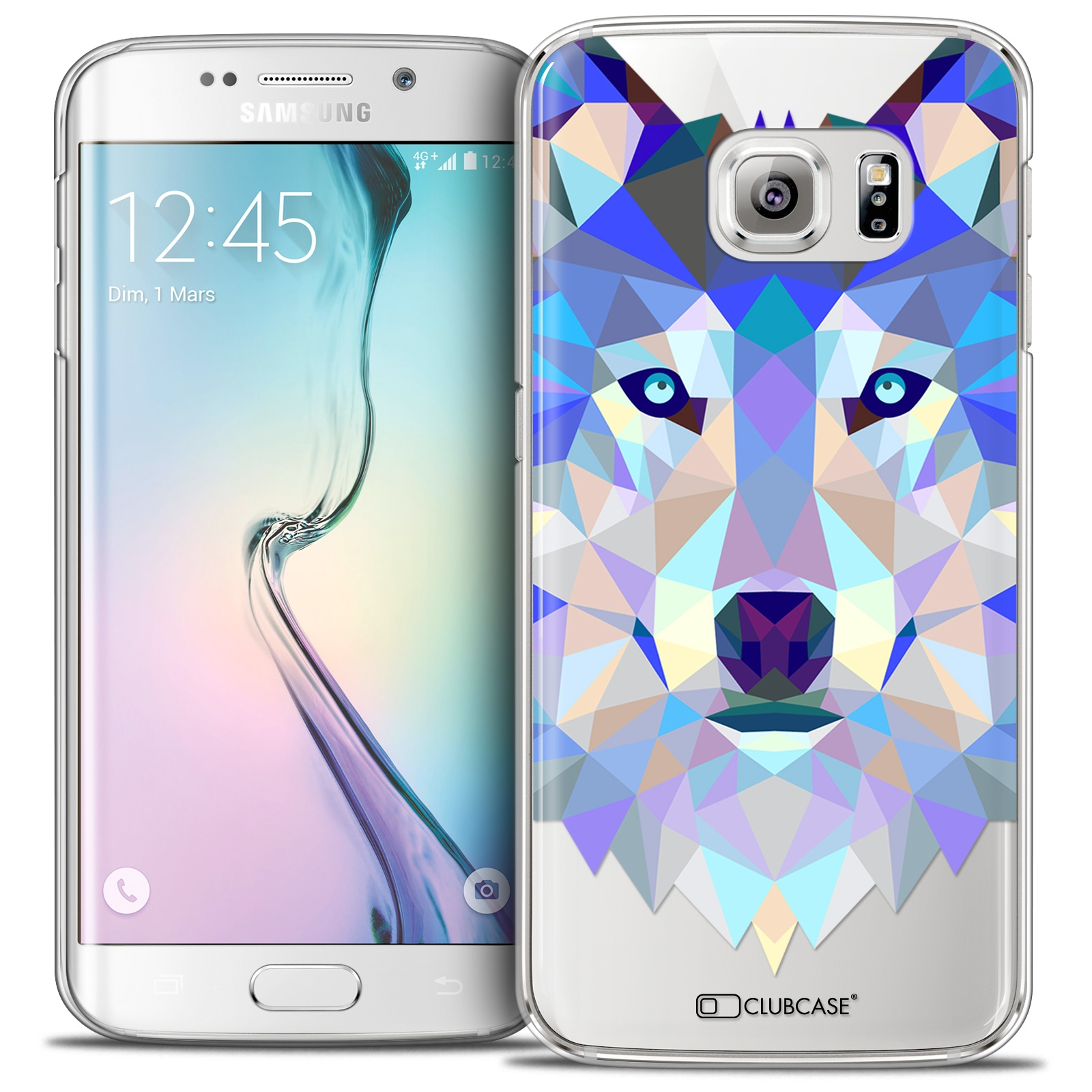 Coque Crystal iPhone 6s/6 Extra Fine Polygon Animals - Loup