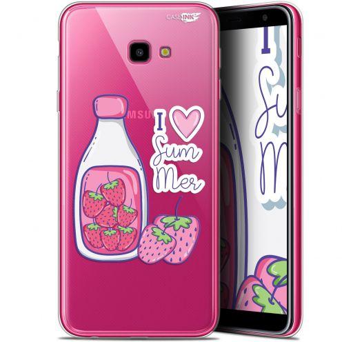 "Coque Gel Samsung Galaxy J4 Plus J4+ (6"") Extra Fine Motif -  Milky Summer"