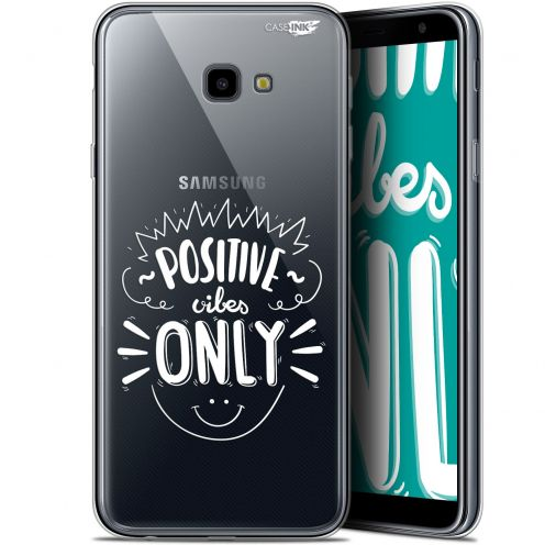 """Coque Gel Samsung Galaxy J4 Plus J4+ (6"""") Extra Fine Motif -  Positive Vibes Only"""