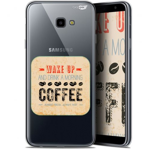 "Coque Gel Samsung Galaxy J4 Plus J4+ (6"") Extra Fine Motif -  Wake Up With Coffee"