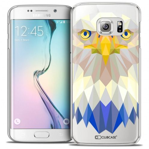 Coque Crystal Galaxy S6 Edge Extra Fine Polygon Animals - Aigle