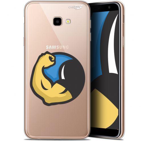 "Coque Gel Samsung Galaxy J4 Plus J4+ (6"") Extra Fine Motif -  Monsieur Muscle"