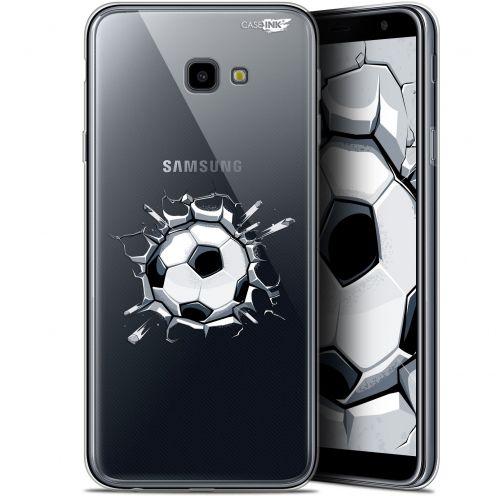 "Coque Gel Samsung Galaxy J4 Plus J4+ (6"") Extra Fine Motif -  Le Balon de Foot"