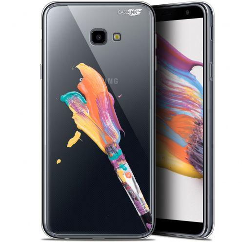 "Coque Gel Samsung Galaxy J4 Plus J4+ (6"") Extra Fine Motif -  Pinceau de Peinture"