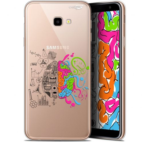"Coque Gel Samsung Galaxy J4 Plus J4+ (6"") Extra Fine Motif -  Le Cerveau"