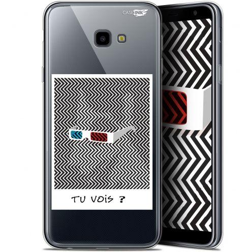 "Coque Gel Samsung Galaxy J4 Plus J4+ (6"") Extra Fine Motif -  Tu Vois ce que Je Vois ?"