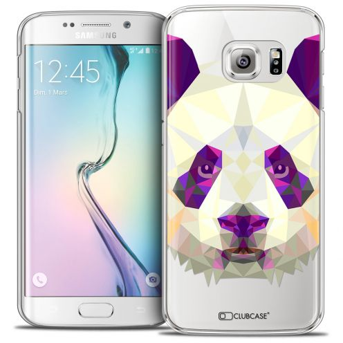 Coque Crystal Galaxy S6 Edge Extra Fine Polygon Animals - Panda