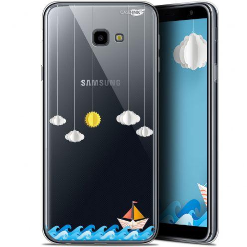 "Coque Gel Samsung Galaxy J4 Plus J4+ (6"") Extra Fine Motif -  Petit Bateau en Mer"