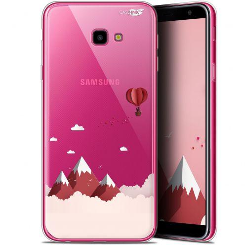 """Coque Gel Samsung Galaxy J4 Plus J4+ (6"""") Extra Fine Motif - Montagne En Montgolfière"""