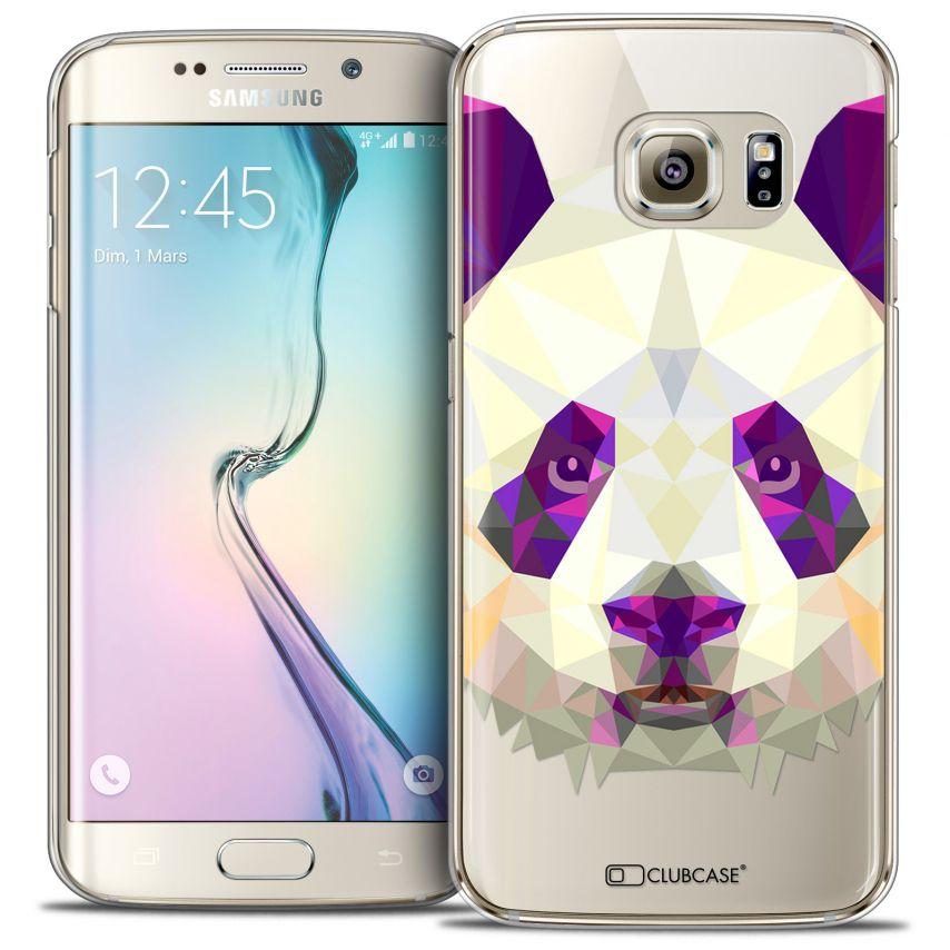 Coque Crystal Galaxy S6 Edge Extra Fine Polygon Animals - Panda