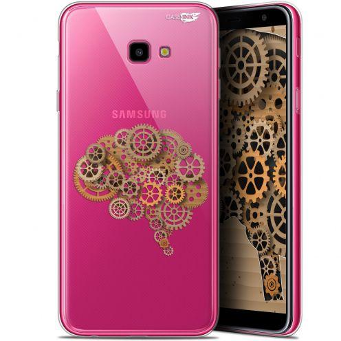 "Coque Gel Samsung Galaxy J4 Plus J4+ (6"") Extra Fine Motif -  Mécanismes du Cerveau"