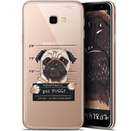 "Coque Gel Samsung Galaxy J4 Plus J4+ (6"") Extra Fine Motif -  Beware The Puggy Dog"