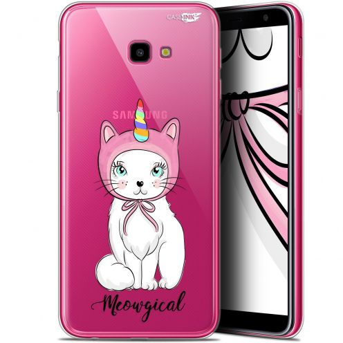 "Coque Gel Samsung Galaxy J4 Plus J4+ (6"") Extra Fine Motif -  Ce Chat Est MEOUgical"