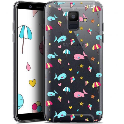 """Coque Gel Samsung Galaxy A6 2018 (5.45"""") Extra Fine Motif - Baleine à la Plage"""