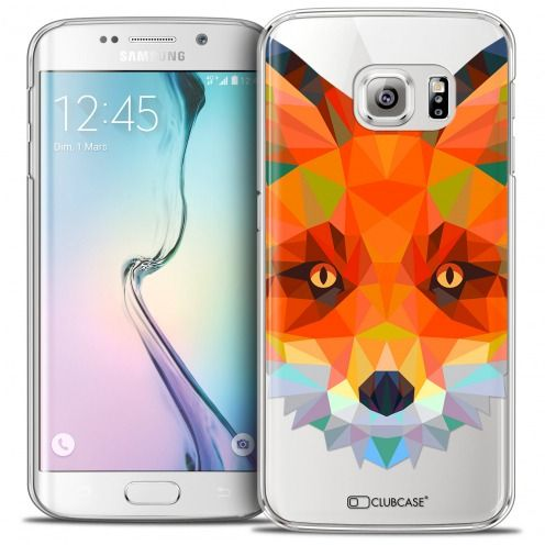 Coque Crystal Galaxy S6 Edge Extra Fine Polygon Animals - Renard