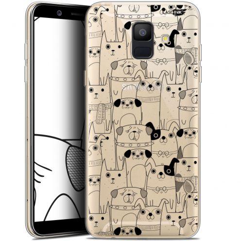 "Coque Gel Samsung Galaxy A6 2018 (5.45"") Extra Fine Motif -  Chien Noir"