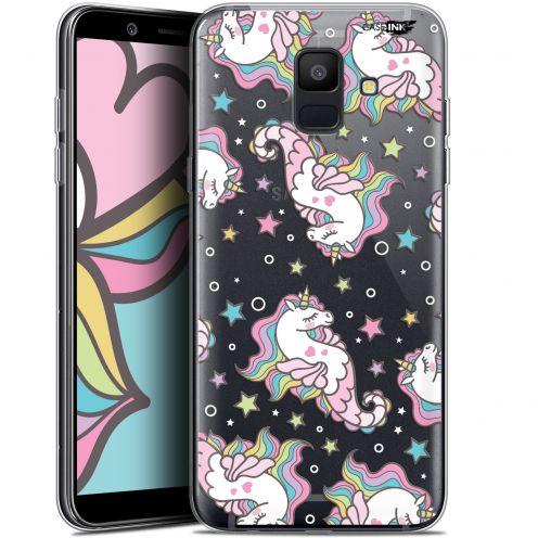 "Coque Gel Samsung Galaxy A6 2018 (5.45"") Extra Fine Motif -  Licorne Dormante"