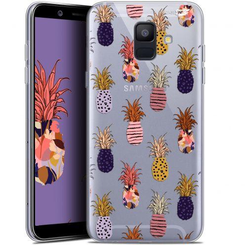 "Coque Gel Samsung Galaxy A6 2018 (5.45"") Extra Fine Motif -  Ananas Gold"