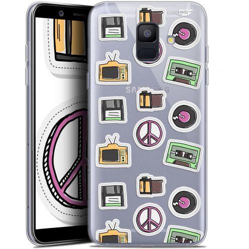 """Coque Gel Samsung Galaxy A6 2018 (5.45"""") Extra Fine Motif -  Vintage Stickers"""