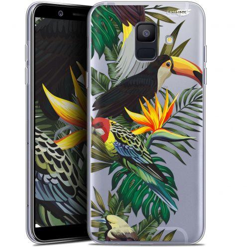 "Coque Gel Samsung Galaxy A6 2018 (5.45"") Extra Fine Motif -  Toucan Tropical"