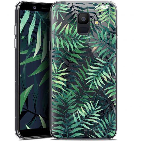 """Coque Gel Samsung Galaxy A6 2018 (5.45"""") Extra Fine Motif -  Feuilles des Tropiques"""