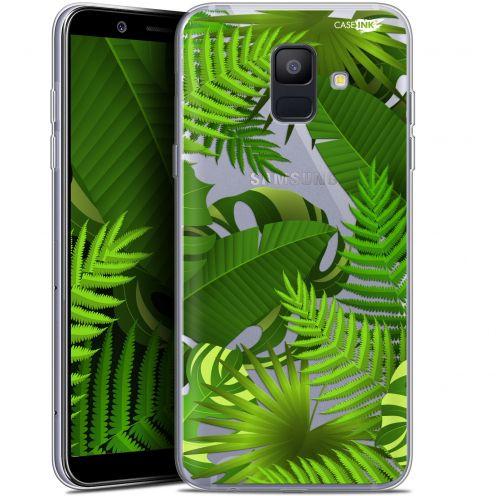 """Coque Gel Samsung Galaxy A6 2018 (5.45"""") Extra Fine Motif -  Plantes des Tropiques"""