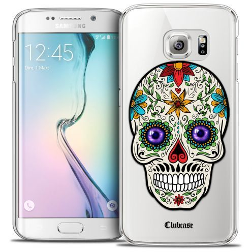 Coque Crystal Galaxy S6 Edge Extra Fine Skull - Maria's Flower