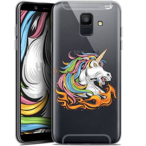 "Coque Gel Samsung Galaxy A6 2018 (5.45"") Extra Fine Motif -  Licorne de Feu"