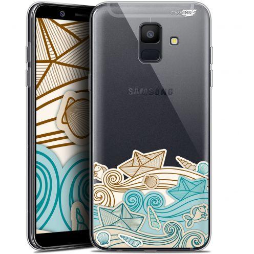 "Coque Gel Samsung Galaxy A6 2018 (5.45"") Extra Fine Motif -  Bateau de Papier"