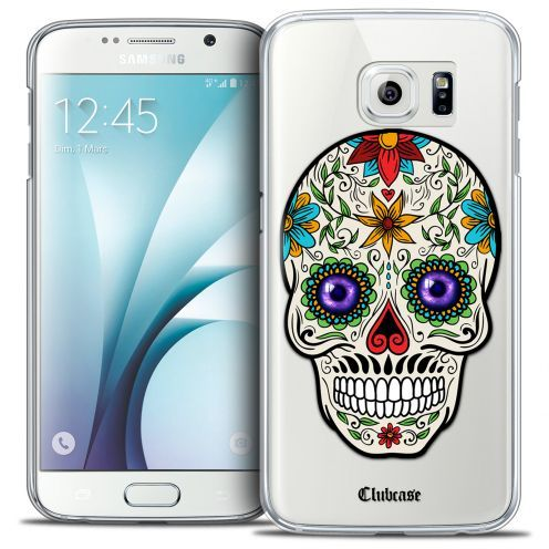 Coque Crystal Galaxy S6 Extra Fine Skull - Maria's Flower