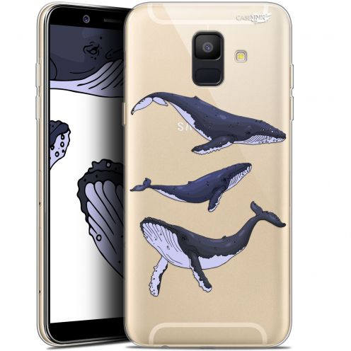 "Coque Gel Samsung Galaxy A6 2018 (5.45"") Extra Fine Motif -  Les 3 Baleines"