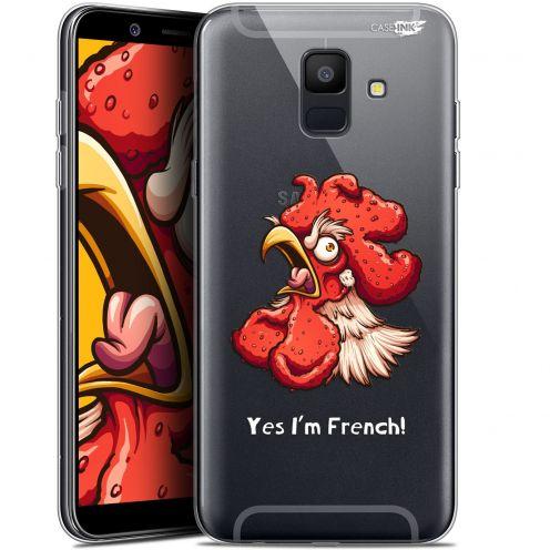"""Coque Gel Samsung Galaxy A6 2018 (5.45"""") Extra Fine Motif -  I'm French Coq"""