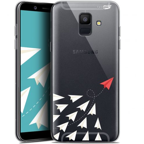 "Coque Gel Samsung Galaxy A6 2018 (5.45"") Extra Fine Motif -  Papier Volant"