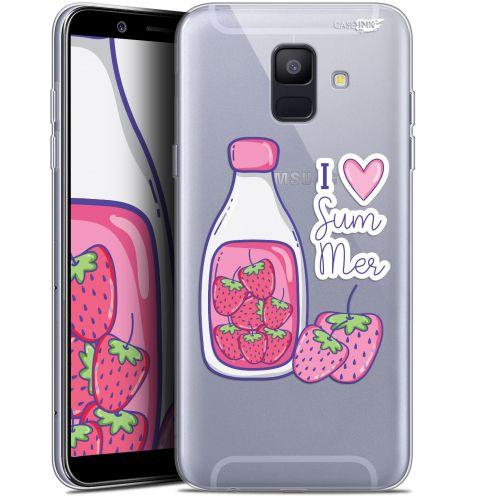 "Coque Gel Samsung Galaxy A6 2018 (5.45"") Extra Fine Motif -  Milky Summer"