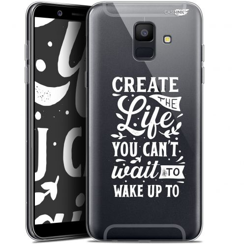 "Coque Gel Samsung Galaxy A6 2018 (5.45"") Extra Fine Motif -  Wake Up Your Life"