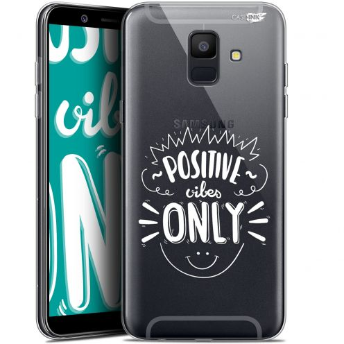 """Coque Gel Samsung Galaxy A6 2018 (5.45"""") Extra Fine Motif -  Positive Vibes Only"""
