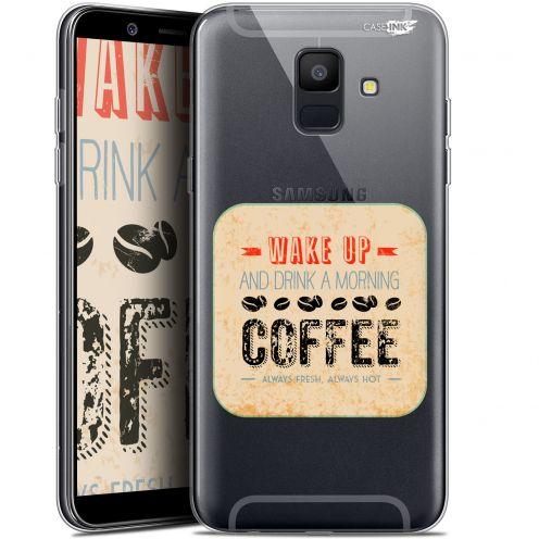 "Coque Gel Samsung Galaxy A6 2018 (5.45"") Extra Fine Motif -  Wake Up With Coffee"