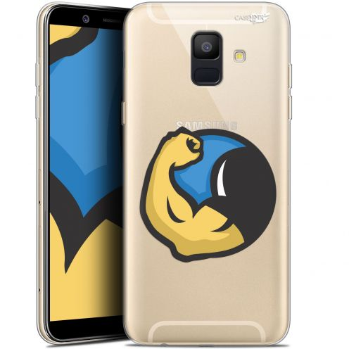 "Coque Gel Samsung Galaxy A6 2018 (5.45"") Extra Fine Motif -  Monsieur Muscle"