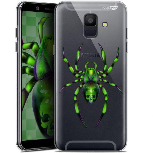 "Coque Gel Samsung Galaxy A6 2018 (5.45"") Extra Fine Motif -  Arraignée Verte"
