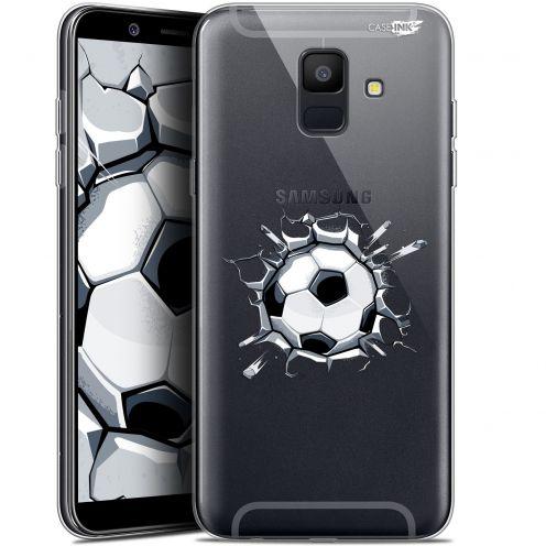 """Coque Gel Samsung Galaxy A6 2018 (5.45"""") Extra Fine Motif - Le Balon de Foot"""