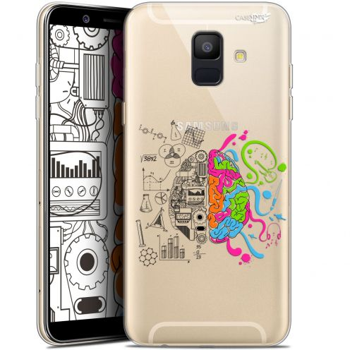 "Coque Gel Samsung Galaxy A6 2018 (5.45"") Extra Fine Motif -  Le Cerveau"