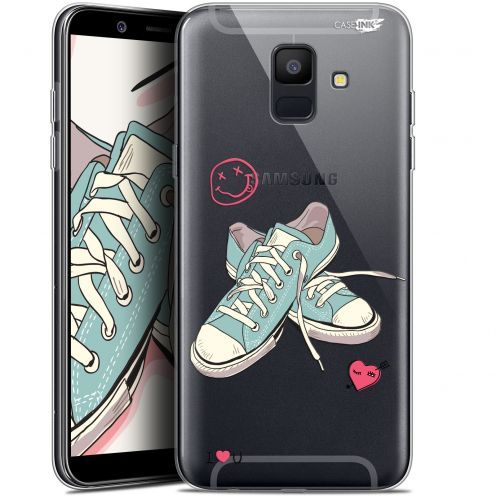 """Coque Gel Samsung Galaxy A6 2018 (5.45"""") Extra Fine Motif -  Mes Sneakers d'Amour"""