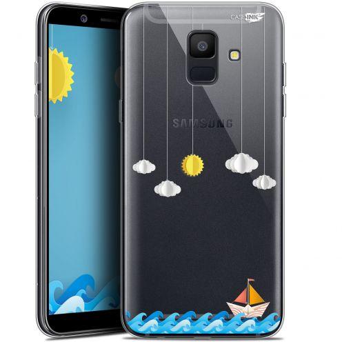 """Coque Gel Samsung Galaxy A6 2018 (5.45"""") Extra Fine Motif -  Petit Bateau en Mer"""