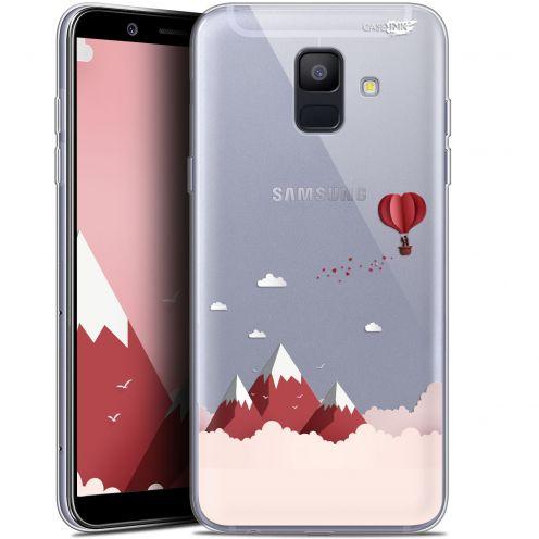 """Coque Gel Samsung Galaxy A6 2018 (5.45"""") Extra Fine Motif -  Montagne En Montgolfière"""